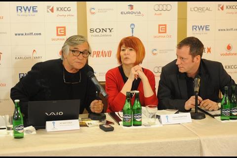 Jiri Bartoska with Uljana Donatova and Krystof Mucha